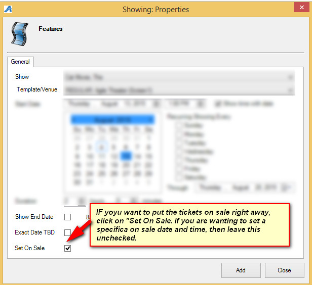 show import instructions agile ticketing solutions